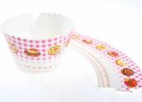 Декор для капкейкав (мафинов) 15 шт., розовые