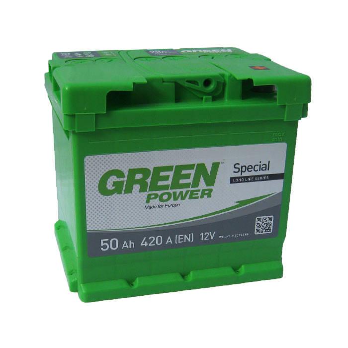 Аккумулятор Green Power 6СТ-50Ач/420А(EN) (-/+), фото 2