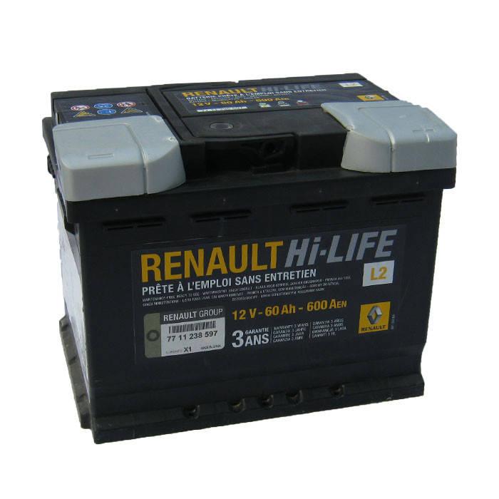 Аккумулятор Renault Hi-Life L2 60Ah 600Aen (-/+), фото 2