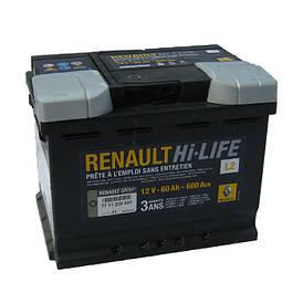 Аккумулятор Renault Hi-Life L2 60Ah 600Aen (-/+)