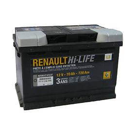 Аккумулятор Renault Hi-Life L3 70Ah 720Aen (-/+)