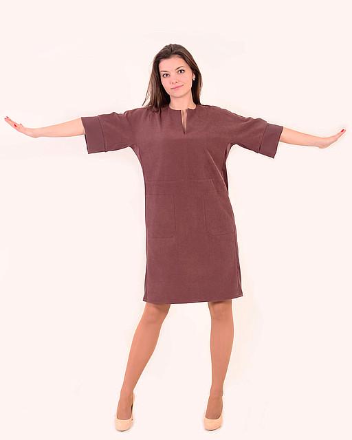 Плаття жіноче, вільного крою, по коліно , батал , тягнеться , не приталене ,Пл 138.