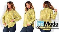 """Необычная женская блуза больших размеров из качественного батиста с принтом """"сердце"""", карманом на груди и блестящей молнией на кармане оливковая"""