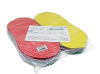 Тапочки микс COLORFUL рифленый изолон 3мм, разноцветный микс
