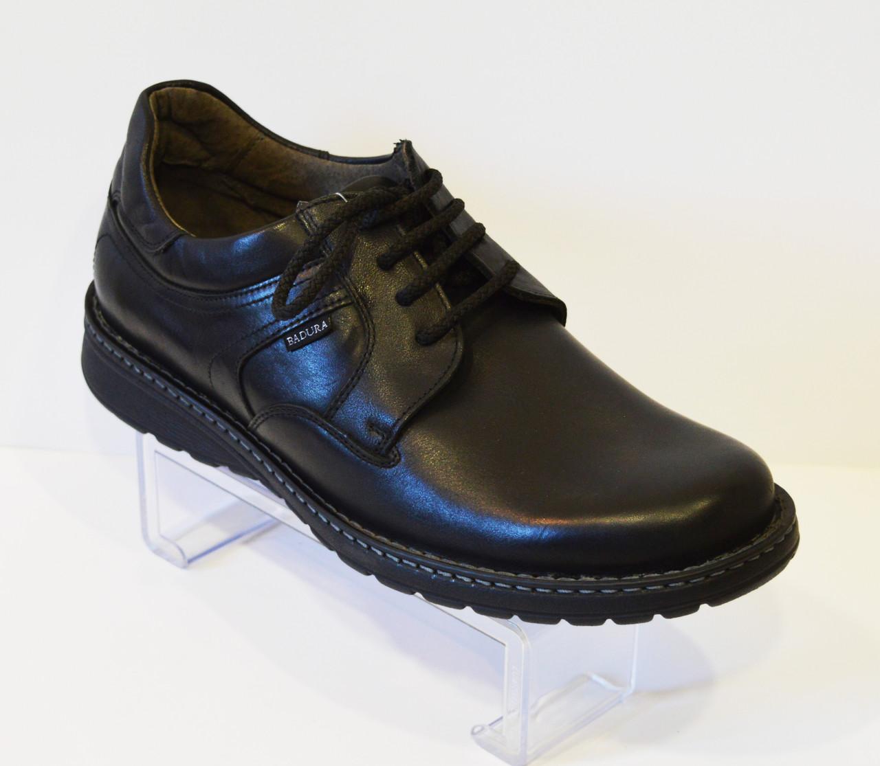 Черные мужские ботинки Badura 2336