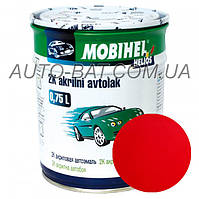 Автоэмаль двухкомпонентная автокраска акриловая (2К) Mazda SQ Blaze Red Mobihel, 0,75 л