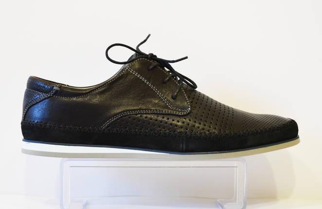 Черные мужские туфли Badura 2885, фото 2