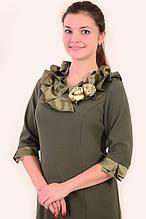Платье женское нарядное , с розами, большие размеры , ПЛ 740 , платье для банкета 52,54