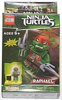 """Фигурка-конструктор для детей """"Черепашки-ниндзя. Рафаэль"""" JLB Ninja Turtles Raphael"""