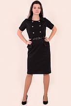 Платье-сарафан черное
