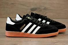 Кроссовки Adidas Spezial Black White топ реплика
