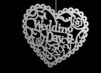 Свадебный декор Wedding day 40 х 34 см.