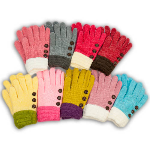 Детские перчатки утепленные для девочки, C10