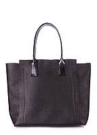 Кожаная женская сумка POOLPARTY Legend черная