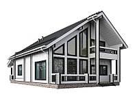 Каркасный дом коттедж площадью 248 м2, фото 1