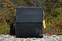 Мужская сумка комбинированная эко кожа с тканью Louis Vuitton