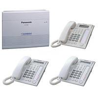 АТС Panasonic KX-TEM824UA + 2 psc KX-T7730UA + 1 pcs KX-T7735UA