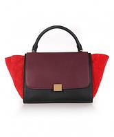 Женская сумка в стиле CELINE TRAPEZE RED (7311), фото 1