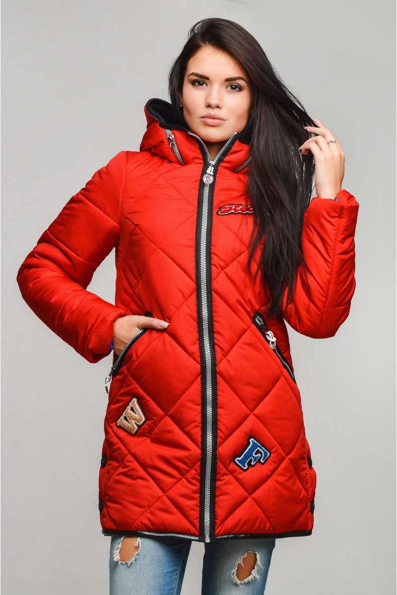 Женская теплая зимняя куртка р. 42-56 арт. Ромб