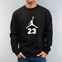 """Свитшот черный Jordan  ( Джордан ) ( значёк+23 ) """""""" В стиле Jordan """""""""""