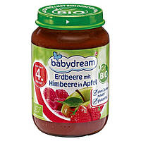 Babydream Bio Erdbeere mit Himbeere in Apfel - Клубника и малина в яблочном пюре, с 4 месяца, 190 г