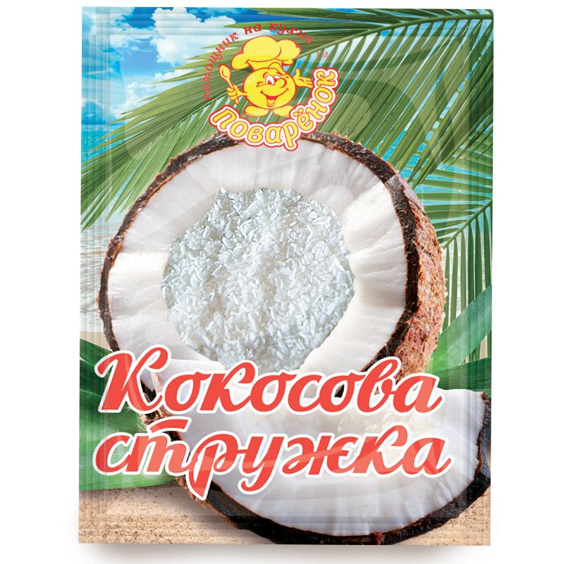 """Кокосова стружка біла 25 г. - Інтернет-магазин """"Океан смаку"""" в Днепре"""