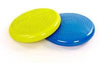 Подушка балансировочная массажная balance cushion (PVC, d-34 см, 1000 гр, цвета в ассортименте)