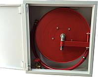 Пожарный кран-комплект ДУ-25 20м (вентиль, рукав, барабан, ДППК, ствол) ПКК