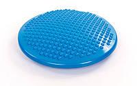 Подушка балансировочная массажная balance cushion (PVC, d-38 см, 1000 гр, синий)