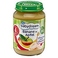 Babydream Bio Banane in Apfel - Детское фруктовое пюре Бананы в яблоке, с 4 месяца, 190 г