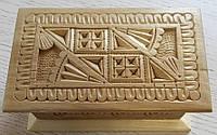 Шкатулка дерев'яна ручної роботи сувенірна 9,5 см*14,5*4 см, фото 1