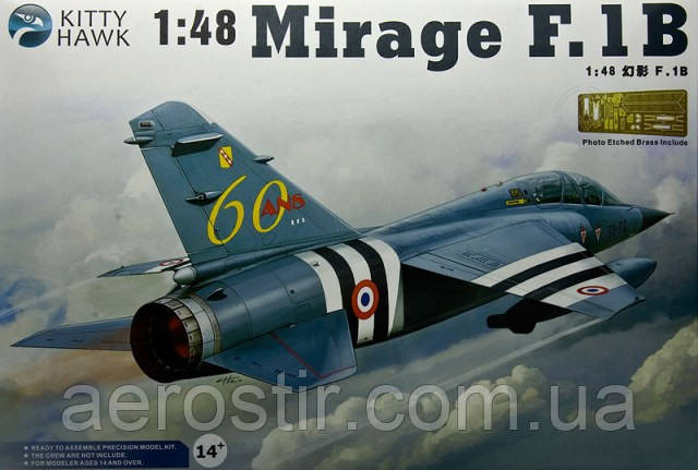 Mirage F.1B 1/48 Kitty Hawk 80112