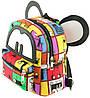 Интересный детский рюкзак из хлопка 2 л Traum 7006-05, разноцветный