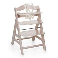 Деревянный  стульчик для кормления Hauck Alpha+ whitewashed