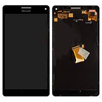 Дисплейный модуль (дисплей + сенсор) для Microsoft (Nokia) 950 Lumia Dual SIM, черный, оригинал