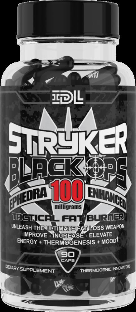 Жиросжигатель Stryker Black Ops  – 90 caps ECA 100 MG
