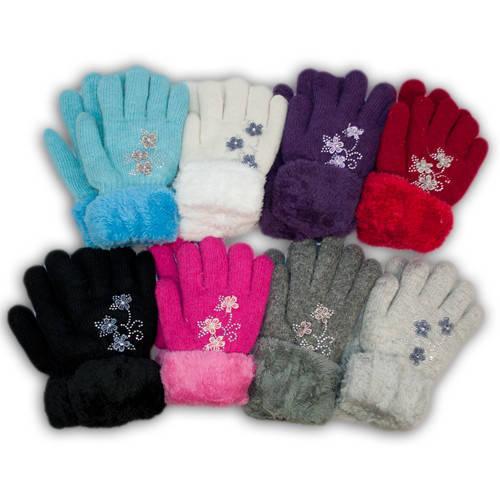 Детские перчатки утепленные для девочки, M23