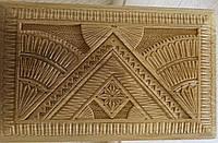 Різьбленна шкатулка сувенірна ручної роботи 13*7,5*21 см, фото 1