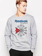 Свитшот серый REEBOK CLASSIC ( цветной принт )