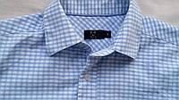Рубашка F&F голубая в клетку S короткий рукав