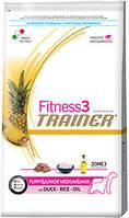 Trainer Fitness3 Puppy Medium&Maxi Duck Rice Oil 12.5кг Корм для щенков средних и крупных пород