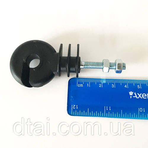 Изолятор с резьбой ∅6 мм (болт-гайка) длинна 40 мм