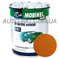 Автоэмаль двухкомпонентная автокраска акриловая (2К) 208 Охра золотистая Mobihel, 0,75 л