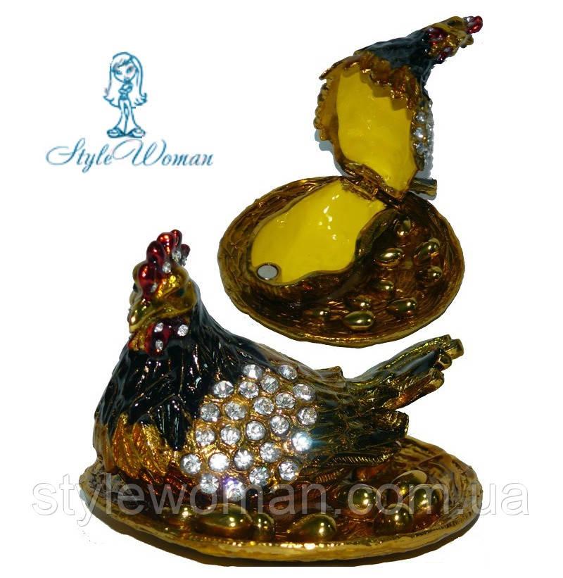 Шкатулка для ювелирных украшений курочка