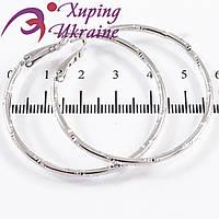 Серьги-кольца родиум (3 см) +4,5 см
