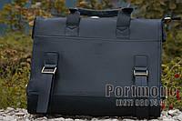 Мужской деловой портфель искусственная кожа черный