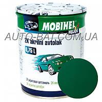 Автоэмаль двухкомпонентная автокраска акриловая (2К) 394 Тёмно-зелёная Mobihel, 0,75 л