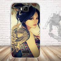 Эксклюзивный чехол для Huawei Y5c Y541 с картинкой Девушка с тату