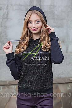 Стильная кофта с капюшоном для девушек сезона осень 2018 - Артикул кф-9