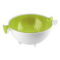Набор коландер и салатник, 2 предмета Guzzini белый/зеленый 29250084